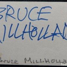 Cine: BRUCE MILLHOLLAND, TARJETAS DE LOS AÑOS 30 FIRMADAS POR DE 3X5 SE PUEDEN ENMARCAR CON UN FOTOGRA. Lote 222485255