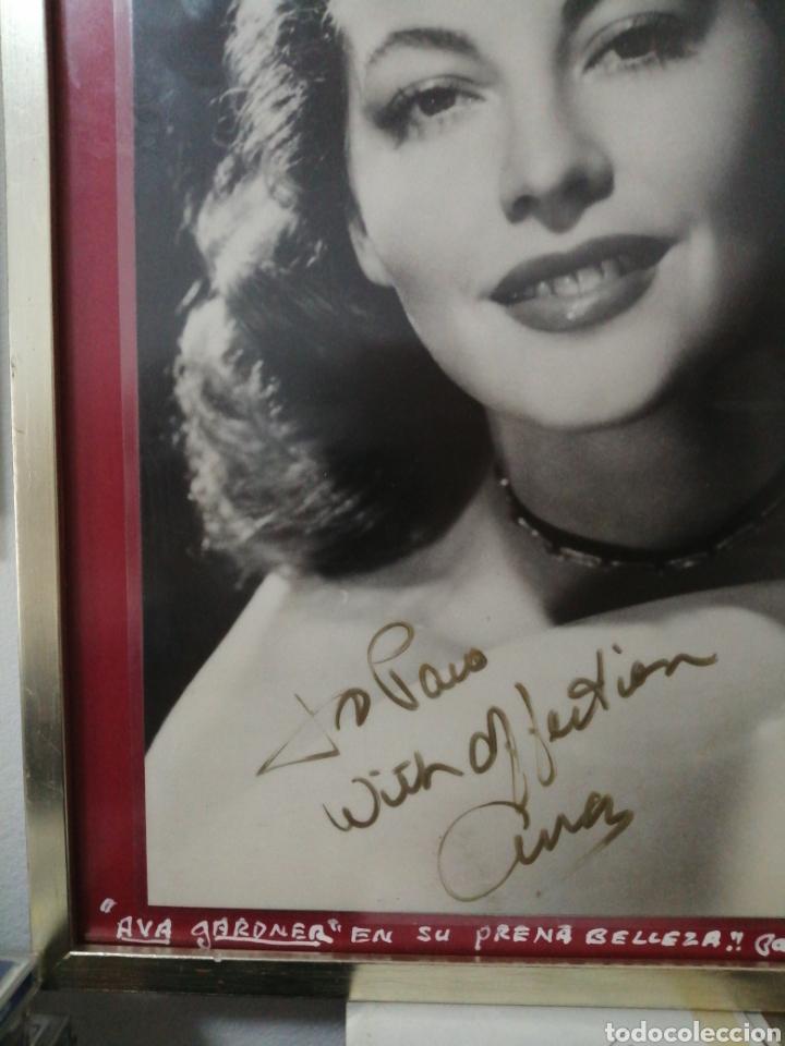 Cine: Ava Gardner. Fotografía con autógrafo a Paco Miranda. - Foto 3 - 226251215