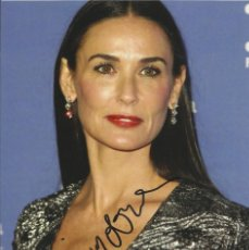 Cine: DEMI MOORE. FIRMA ORIGINAL, AUTÓGRAFO, AUTOGRAPH. GHOST. A FEW GOOD MEN. STRIPTEASE. MR. BROOKS.. Lote 228461995