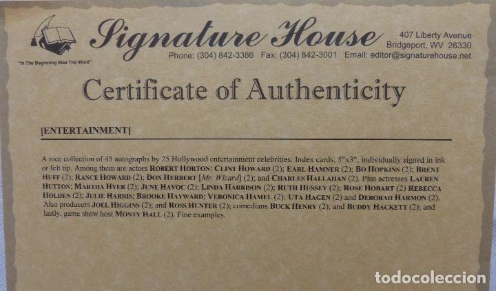 Cine: Tarjeta firmada de Joel Higgins (Actor) - Foto 4 - 228981380