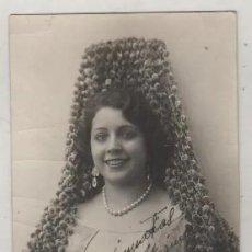 Cinema: POSTAL FOTOGRÁFICA ACTRIZ NACIDA EN SEVILLA, CON AUTÓGRAFO ORIGINAL 1925 ELISA RUIZ ROMERO. Lote 236158400