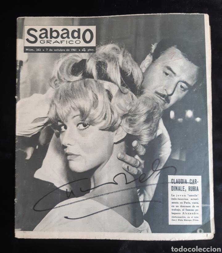AUTÓGRAFO LA ACTRIZ CLAUDIA CARDINALE A MANO. 1961. LEER LAS CONDICIONES ANTES DE PUJAR. (Cine - Autógrafos)