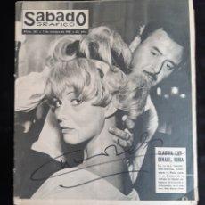 Cine: REVISTA SABADO GRAFICO CON PORTADA DE LA ACTRIZ CLAUDIA CARDINALE AUTOGRAFIADA A MANO . AÑO 1961.. Lote 240605900