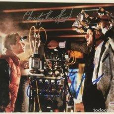 """Cine: MICHAEL J FOX CHRISTOPHER LLOYD FIRMADO VOLVER AL FUTURO 11X14""""PSA LOA FIRMADA A MANO AUTOGRAFO. Lote 244957835"""