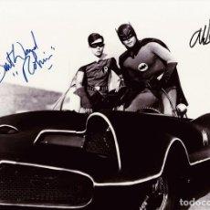 Cine: ADAM WEST, BURT WARD SIGNED AUTOGRAPH BATMAN THE SERIES 8X10 PHOTO. Lote 245182300