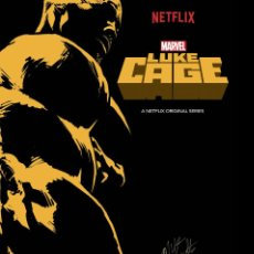 Cine: MIKE COLTER SIGNED AUTOGRAPH LUKE CAGE MARVEL 11X17 POSTER. Lote 245536510