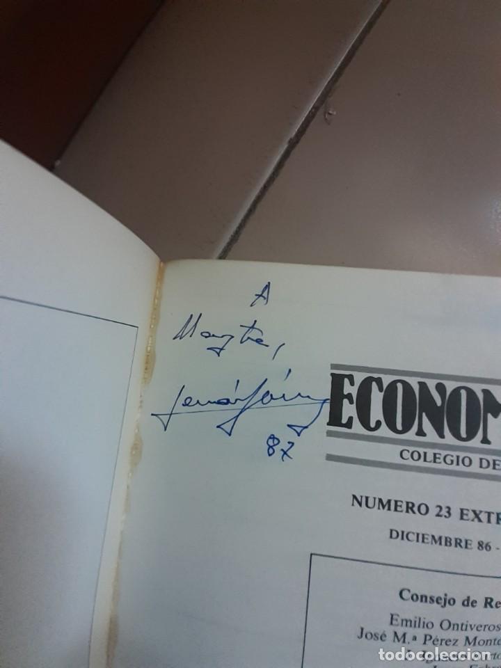 AUTÓGRAFO DE FERNANDO FERNAN GOMEZ 1987 EN LIBRO DEL COLEGIO DE ECONOMISTAS DE MADRID (Cine - Autógrafos)