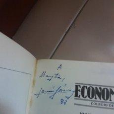 Cine: AUTÓGRAFO DE FERNANDO FERNAN GOMEZ 1987 EN LIBRO DEL COLEGIO DE ECONOMISTAS DE MADRID. Lote 249291230