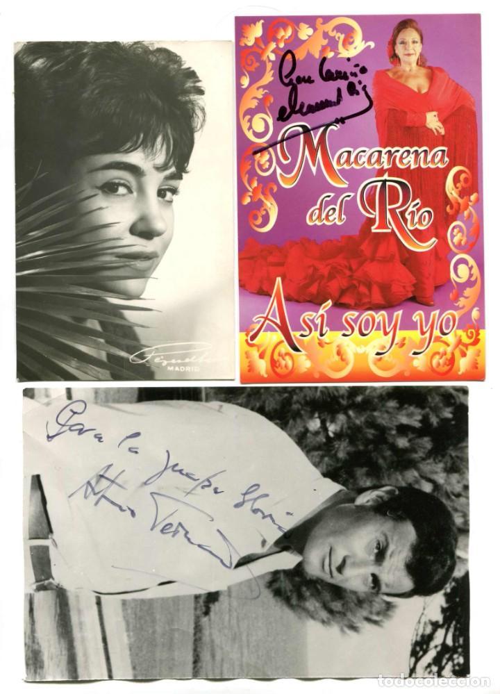 FOTOS CON AUTÓGRAFO.MACARENA DEL RÍO Y ARTURO FERNÁNDEZ. (Cine - Autógrafos)