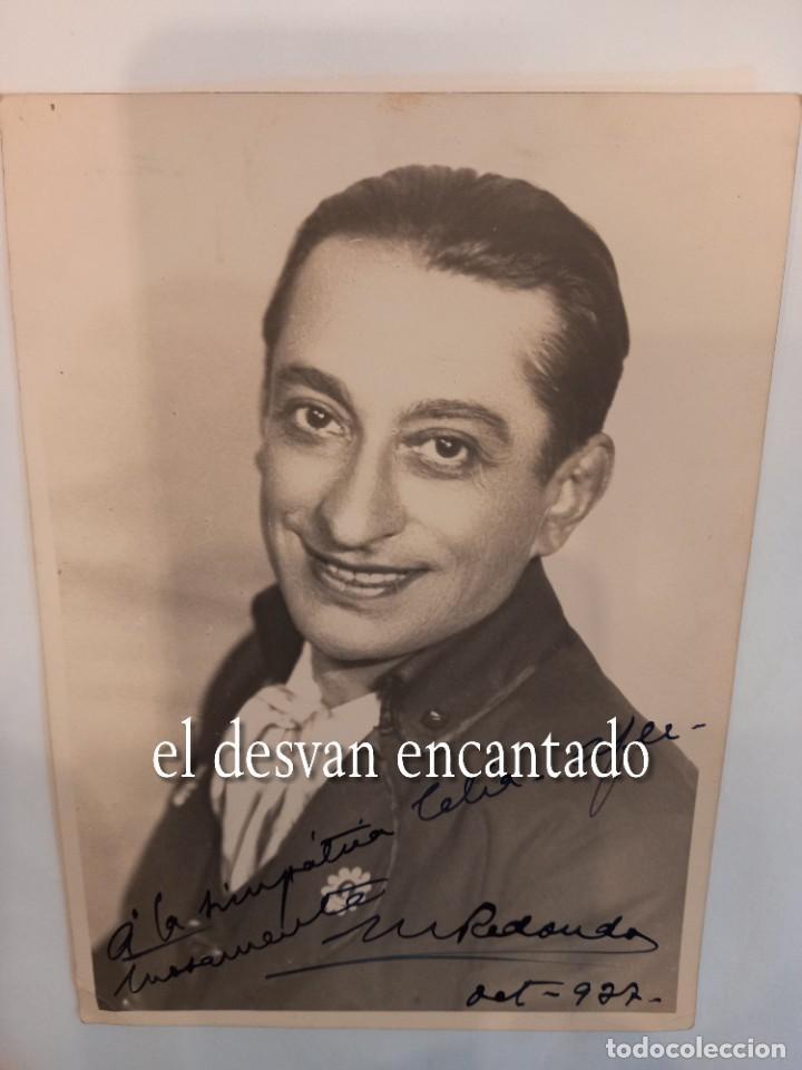 MARCOS REDONDO. FOTO CON DEDICATORIA ORIGINAL 18 X 13 CTMS. AÑO 1937 (Cine - Autógrafos)