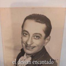 Cinema: MARCOS REDONDO. FOTO CON DEDICATORIA ORIGINAL 18 X 13 CTMS. AÑO 1937. Lote 267454289