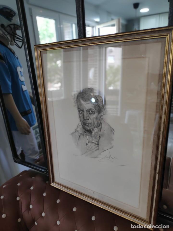 Cine: SALVADOR DALÍ ETCHING PHOTOLITOGRAPH PORTRAIT OF PICASSO , SIGNED FIRMADO A MANO - Foto 3 - 241458240