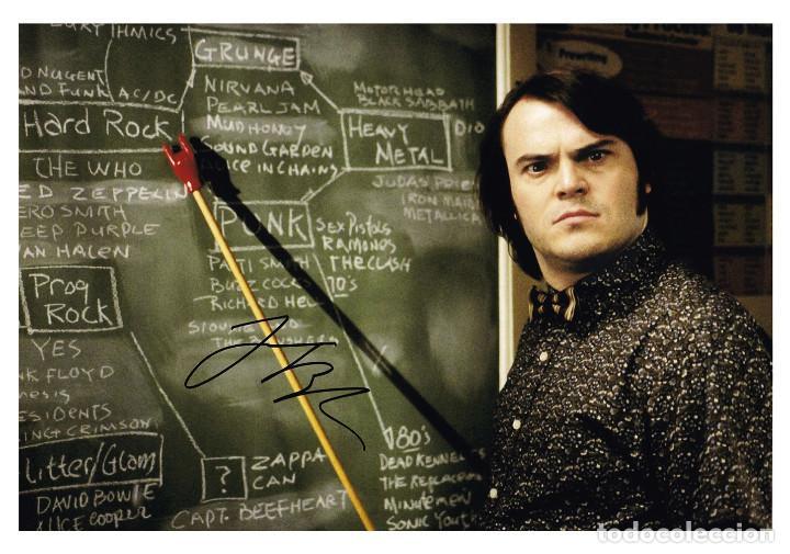 JACK BLACK SIGNED AUTOGRAPH SCHOOL OF ROCK 8X10 PHOTO (Cine - Autógrafos)