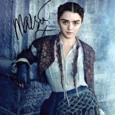 Cine: MAISIE WILLIAMS SIGNED AUTOGRAPH GAME OF THRONES ARYA STARK 8X12 PHOTO. Lote 278336663
