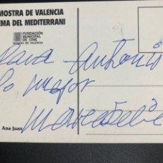Cine: TARJETA CON DEDICATORIA Y AUTÓGRAFO DE MARÍA FÉLIX.MOSTRA DE VALENCIA CINEMA DEL MEDITERRANI 1994. Lote 278498278