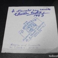 Cinema: ESTRELLITA CASTRO AUTOGRAFO SOBRE UNA SERVILLETA SEVILLA 1983. Lote 286940983