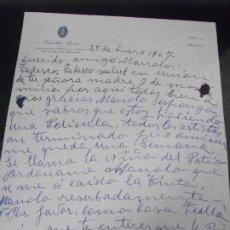 Cinema: ESTRELLITA CASTRO AUTOGRAFO CARTA Y SOBRE 1967. Lote 286946708