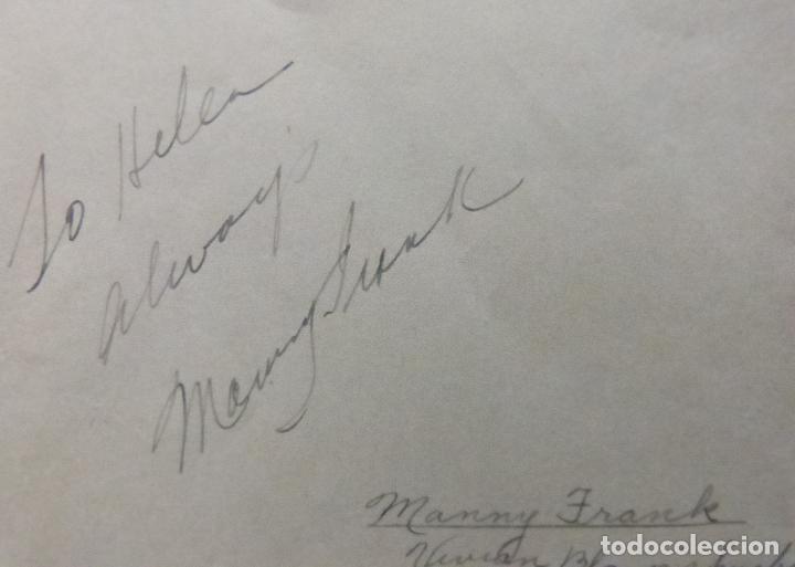 Cine: Autografo de Manny Frank firma en página de álbum cortada/ 1946 (esposo de Vivian Blaine) - Foto 2 - 287857383