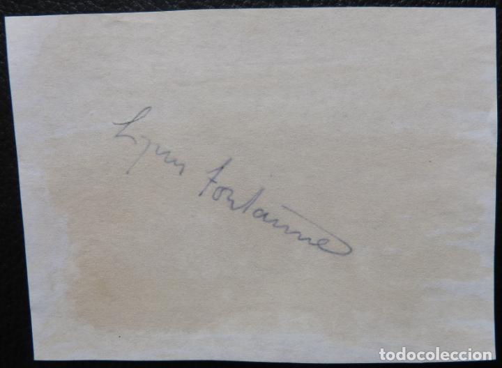Cine: Autografo de LYNN FONTANNE/ firmó una página de álbum 4x5 de los años 70 - Foto 2 - 287858543