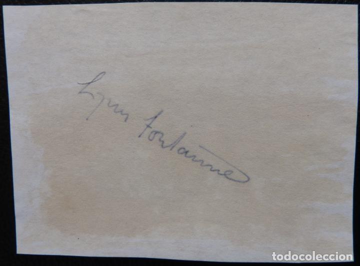 Cine: Autografo de LYNN FONTANNE/ firmó una página de álbum 4x5 de los años 70 - Foto 3 - 287858543