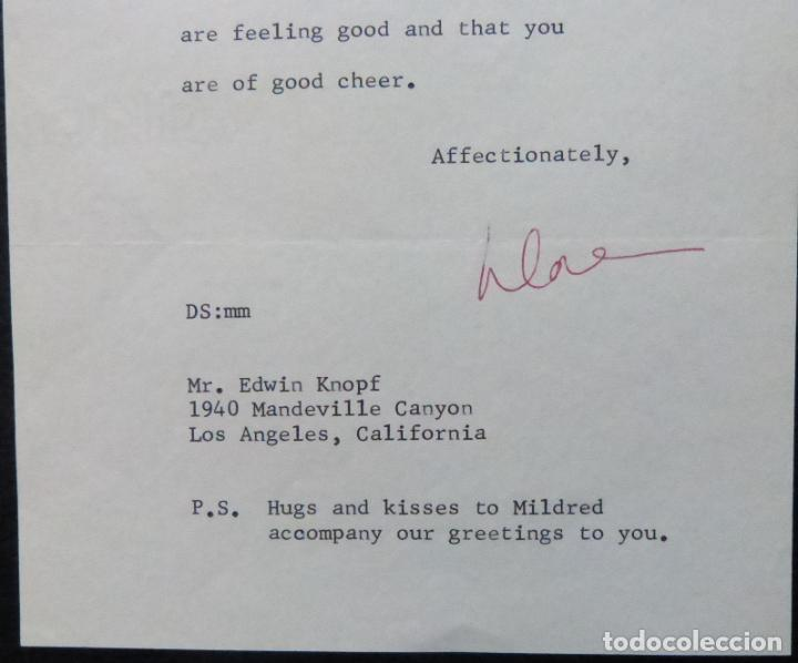 Cine: Autografo en Carta firmada de Dore Schary, 11 de noviembre de 1970, al Sr. Edwin Knopf - Foto 3 - 287954168