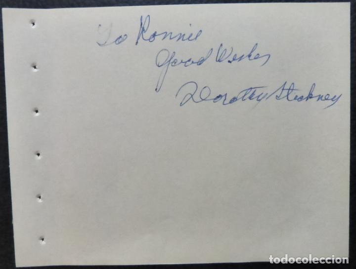 Cine: Autografo de Dorothy Stickney Página del álbum firmada, en tinta azul (actriz) - Foto 2 - 289263788