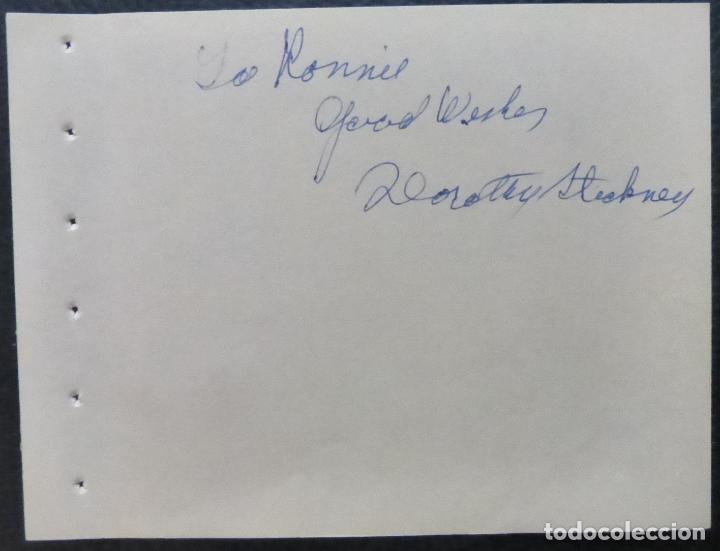 Cine: Autografo de Dorothy Stickney Página del álbum firmada, en tinta azul (actriz) - Foto 4 - 289263788