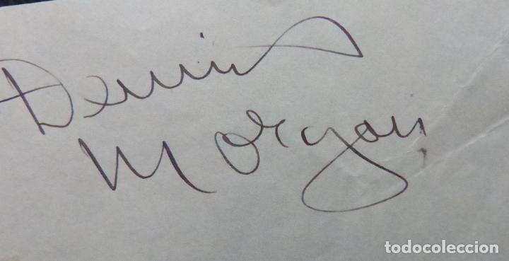 Cine: Autografo de Dennis Morgan Papel firmado con tinta negra (actor y cantante estadounidense) - Foto 2 - 289267088