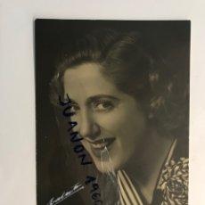 Cine: FOTOGRAFÍA MARY SAMPERE.. ACTRIZ CATALÁNA. AUTÓGRAFO ORIGINAL, RETRATOS VALENTIN (H.1950?). Lote 289517318