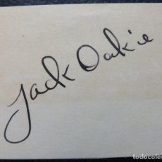 Cine: AUTOGRAFO DE JACK OAKIE.FIRMÓ PAPEL EN TINTA NEGRO (ACTOR ESTADOUNIDENSE). Lote 289730293