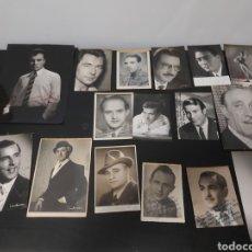 Cinema: FOTOS ARTISTAS,CANTANTES, ACTORES DEDICADAS Y FIRMADAS AÑOS 50-60. Lote 293744453
