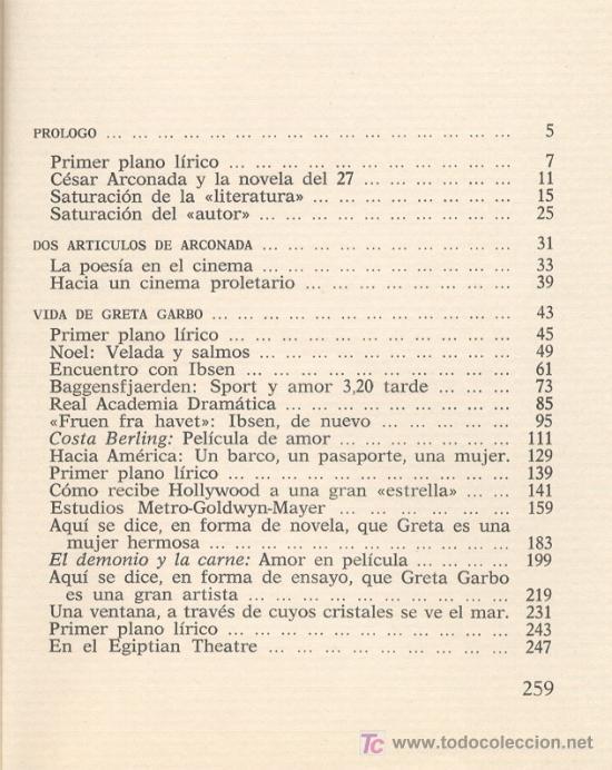 Cine: VIDA DE GRETA GARBO -César Arconada (Generación 27)- 1974 (Cine, República). - Foto 3 - 26451057