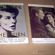 Cine: BIOGRAFÍA KATHARINE HEPBURN 2 LIBROS. ANNE EDWARDS. ULTRAMAR, GRECA. 1988. TRADUCE JUAN CONEJO. ++++. Lote 27553472