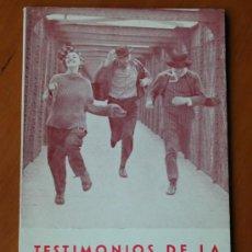 Cine: TESTIMONIOS DE LA 'NOUVELLE VAGUE', DE CARLOS FERNÁNDEZ CUENCA. FILMOTECA NACIONAL DE ESPAÑA 1965. Lote 26474614