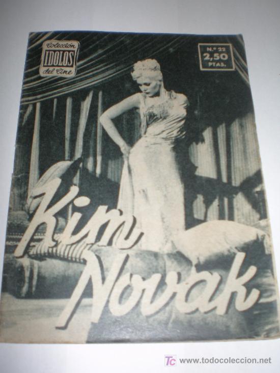 IDOLOS DEL CINE Nº 22 KIM NOVAK (1958),MEDIDAS 16X12 CTMOS (Cine - Biografías)