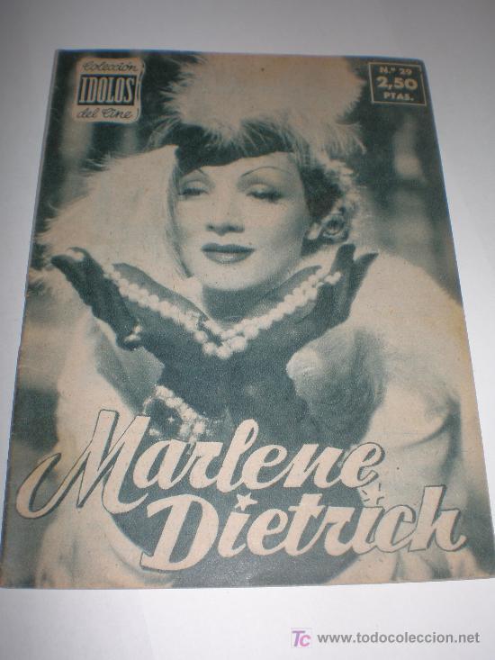 IDOLOS DEL CINE Nº 29 MARLENE DIETRICH, MEDIDAS 16X12 CTMOS (Cine - Biografías)