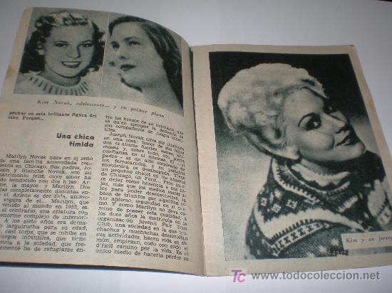 Cine: IDOLOS DEL CINE Nº 22 KIM NOVAK (1958),medidas 16x12 ctmos - Foto 2 - 25752830