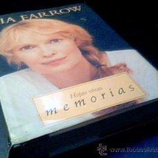 Cine: MIA FARROW. HOJAS VIVAS. MEMORIAS. EDICIONES B, 1 ª EDICION, FEBRERO 1997. CON FOTOGRAFIAS.335 PAG.. Lote 16632720