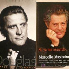 Cinema: AUTO-BIOGRAFÍAS DE KIRK DOUGLAS Y MARCELLO MASTROIANNI. Lote 26377652