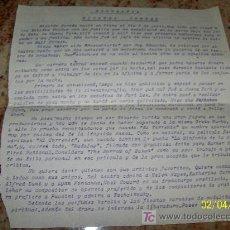 Cine: BIOGRAFÍA: RICARDO CORTEZ- ESCRITA A MÁQUINA EN ALICANTE 22 DE FEBRERO DE 1935- FIRMADA POR EL AUTOR. Lote 18502974