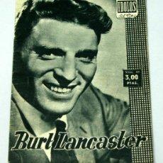 Cine: BURT LANCASTER COLECCIÓN IDOLOS DEL CINE Nº 68 1958 BIOGRAFÍA. Lote 18819101
