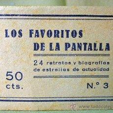 Cine: LOS FAVORITOS DE LA PANTALLA, Nº 3, 24 RETRATOS Y BIOGRAFIAS DE ESTRELLAS DE ACTUALIDAD, COMPLETO. Lote 22792091