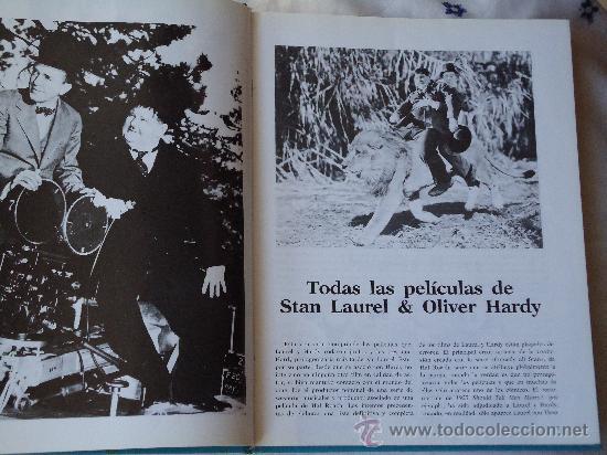 Cine: LIBRO con TODAS LAS PELICULAS, DE STAN LAUREL Y OLIVER HARDY, 28 X 22 CTMS.TAPAS DURAS - Foto 2 - 27341710
