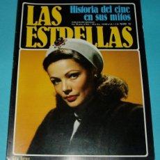 Cine: LAS ESTRELLAS. FASCÍCULO Nº 72. PORTADA GENE TIERNEY. CONTRAPORTADA HENRY FONDA. Lote 27587568