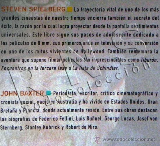 Cine: LIBRO STEVEN SPIELBERG BIOGRAFÍA NO AUTORIZADA - DIRECTOR CINE - DESDE INICIOS HASTA EL MITO ABC - Foto 2 - 27973712