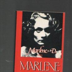 Cine: MARLENE D. POR MARLENE DIETRICH ULTRAMAR EDICIONES BARCELONA 1992 2º EDICION. Lote 28399703