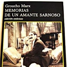 Cine: MEMORIAS DE UN AMANTE SARNOSO, DE GROUCHO MARX.. Lote 33230471