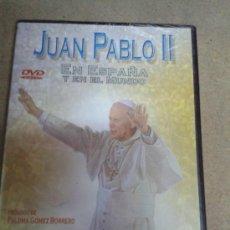 Cine: DVD JUAN PABLO II EN ESPAÑA Y EN EL MUNDO . Lote 37529164