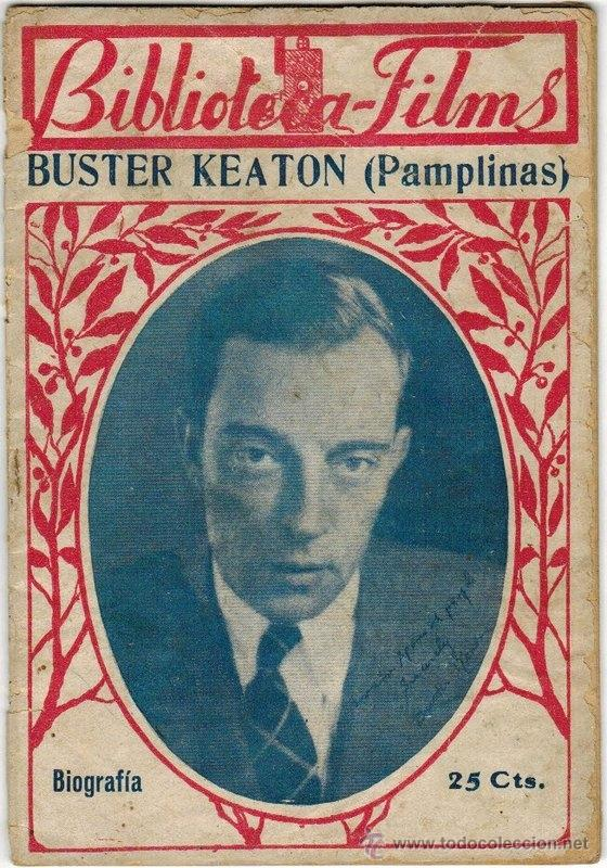 BUSTER KEATON (PAMPLINAS) POR M. OTEIN, BIBLIOTECA-FILMS, ENTREVISTA EN SU VISITA A ESPAÑA EN 1930 (Cine - Biografías)