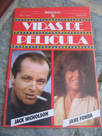 LIBRO DE CINE: JACK NICHOLSON - JANE FONDA 1986 (Cine - Biografías)